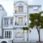 Tư vấn thiết kế nhà phố 3 tầng cổ điển – diện tích 4x22m