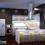 Mẫu thiết kế nội thất hiện đại cho biệt thự 3 tầng