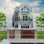 Mẫu nhà phố 2 tầng – mặt tiền 7m