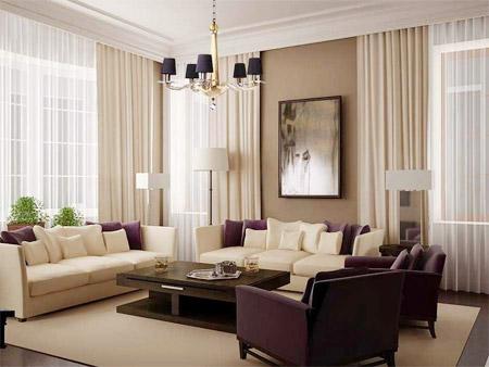 Sơn trần nhà màu sáng hơn tường tạo cảm giác thoáng rộng cho không gian