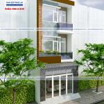 Mẫu thiết kế nhà phố hiện đại 3 tầng – diện tích 5x20m