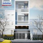 Mẫu thiết kế nhà phố 3 tầng – mặt tiền 4m