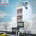 Mẫu thiết kế nhà phố mặt tiền 4m 6 tầng