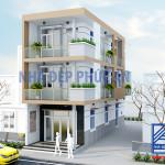 Mẫu thiết kế nhà phố hiện đại 2 mặt tiền 2018