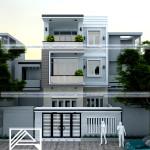 Mẫu thiết kế nhà phố hiện đại 3 tầng – diện tích 7x15m
