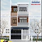 Mẫu thiết kế nhà phố 3 tầng mặt tiền 6m