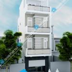 Mẫu thiết kế nhà phố 3,5 tầng đơn giản – diện tích 4,3×10,5m